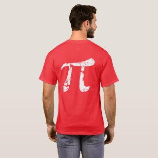 T-shirt Symbole blanc de la grunge pi