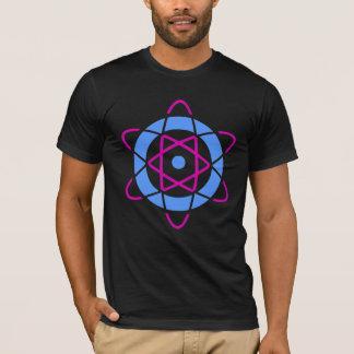 T-shirt Symbole d'atome de geek de Sci fi