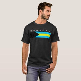 T-shirt Symbole de drapeau de pays des Bahamas longtemps