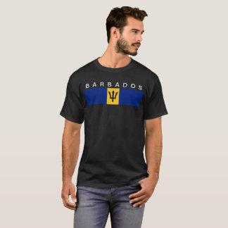 T-shirt Symbole de drapeau de pays des Barbade longtemps