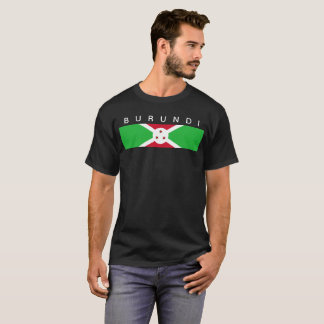 T-shirt Symbole de drapeau de pays du Burundi longtemps