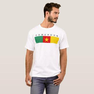 T-shirt Symbole de drapeau de pays du Cameroun longtemps