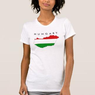 T-shirt symbole de forme de carte de drapeau de pays de la