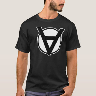 T-shirt Symbole de héros de Voluntaryist avec la frontière