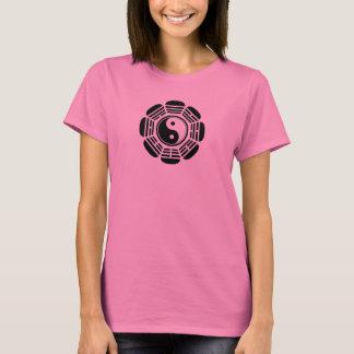T-shirt Symbole de Yin Tang de fleur