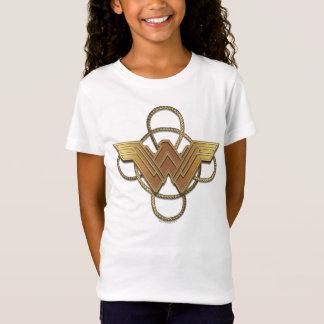 T-Shirt Symbole d'or de femme de merveille au-dessus de