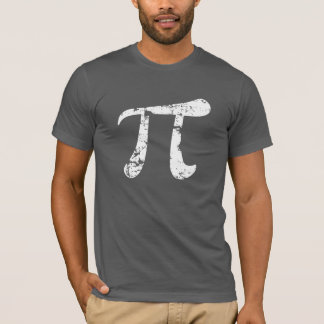 T-shirt Symbole grunge de pi