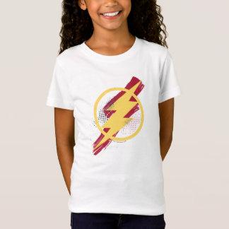 T-Shirt Symbole instantané de brosse et d'image tramée de