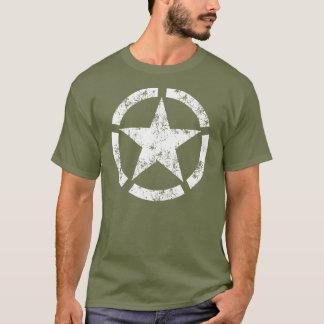 T-shirt Symbole national cassé affligé d'étoile d'anneau