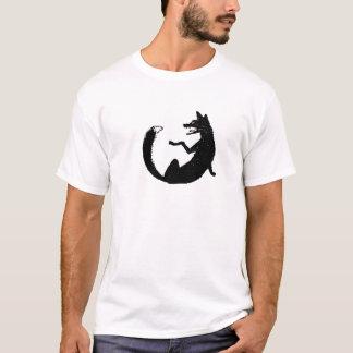 T-shirt Symbole noir et blanc d'emblème de Fox