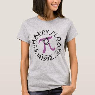 T-shirt Symbole pourpre de pi du © heureux mignon pi de