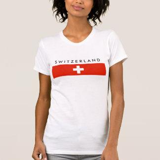 T-shirt Symbole suisse de nation de drapeau de pays de la