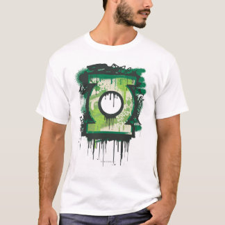 T-shirt Symbole vert de graffiti de lanterne