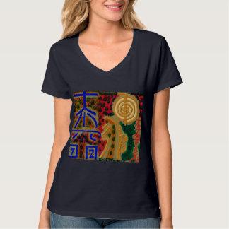 T-shirt Symboles curatifs principaux de REIKI. V - PIÈCE