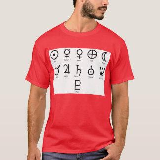 T-shirt Symboles de planète de la NASA