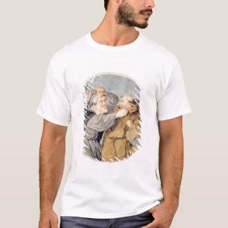 T-shirt T31130 deux moines combattant, 1690 (la semaine,