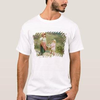 T-shirt T33572 au marché, pour acheter un gros porc