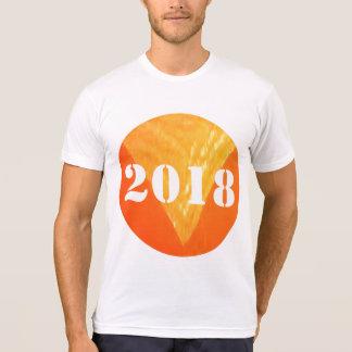 T-shirt T   américain de mélange de Poly-Coton de