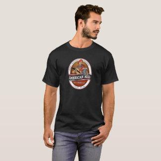 T-shirt T américain d'hommes rouges
