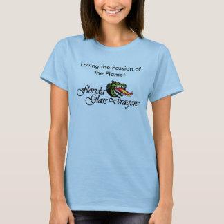 T-shirt T-Chemise-Affectueux la passion de la flamme