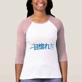 T-shirt T de base-ball de dames (amour à la première vue)