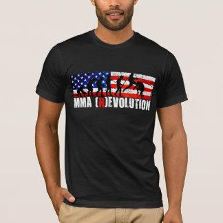 T-shirt T de drapeau américain de diagramme d'évolution de