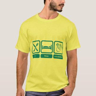 T-shirt T de la couleur des hommes (mangez, dormez,
