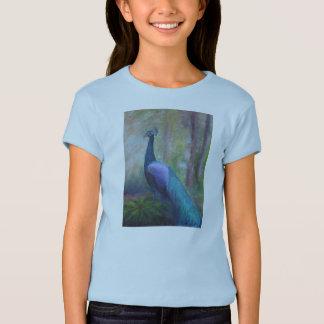 T-shirt T de la fille de paon