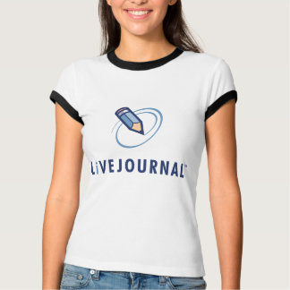 T-shirt T de mode de dames (verticale de logo)