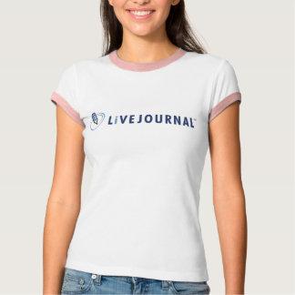 T-shirt T de sonnerie de dames (logo horizontal)