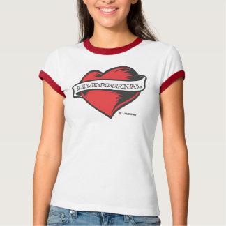 T-shirt T de sonnerie de dames (tatouage de LiveJournal)