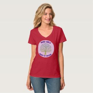 T-shirt T des femmes avec le grand par nature logo ringard