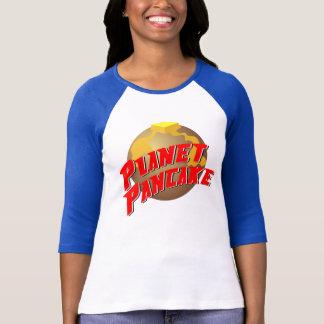 T-shirt T des femmes de crêpe de planète