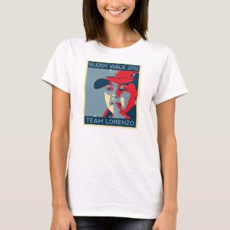 T-shirt T des femmes de Lorenzo d'équipe
