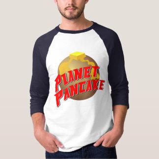 T-shirt T des hommes de crêpe de planète