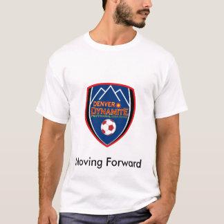T-shirt T des hommes de dynamite de Denver rétro