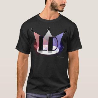 T-shirt T foncé des hommes de concepteur d'éclairage