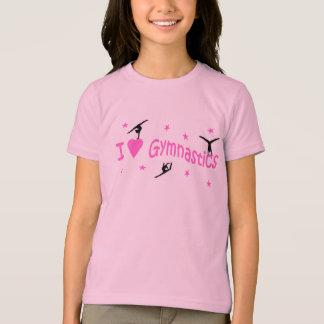 """T-shirt T. Motif aime gymnastique de chemise """"je"""""""