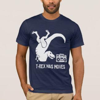 T-shirt T-Rex a des mouvements