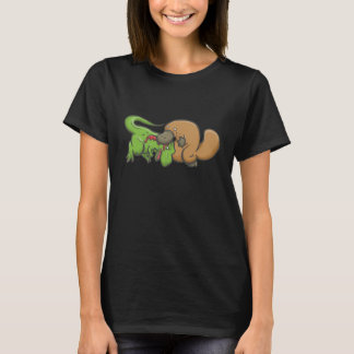 T-shirt T-rex contre l'ornithorynque