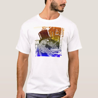 T-shirt T-Rex dans un tophat