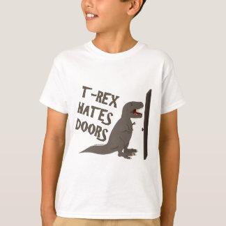 T-shirt T-Rex déteste des portes