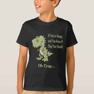 T-shirt T-Rex heureux