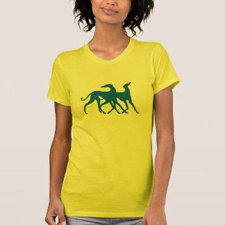 T-shirt T shirt Azawakh bleu