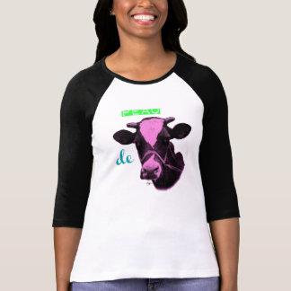 T-shirt T Shirt Bicolore femme Peau de vache
