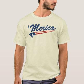 T-shirt 'T-shirt de bruissement de MERICA affligé par cru