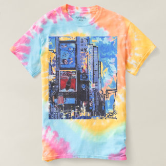 T-shirt T=shirt de colorant de cravate de Times Square de