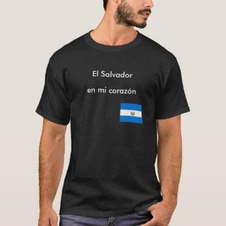 """T-shirt """"T-shirt de corazon d'en MI du Salvador"""""""