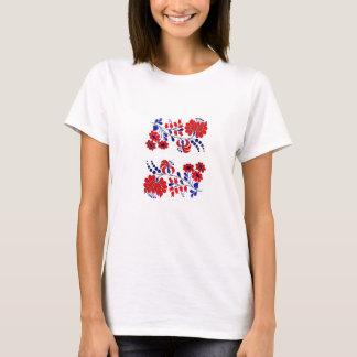T-shirt T-shirt, Hongrois, broderie