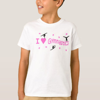 T-shirt T.shirt - J'aime le motif de gymnastique